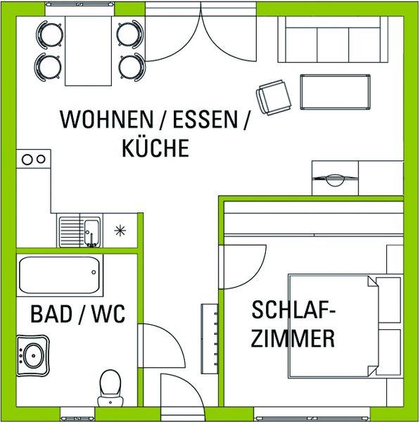 Betreutes Wohnen im Burgenland / Wohnung Typ A rollstuhlgerecht